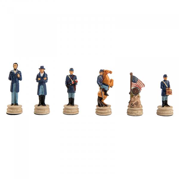 Piese sah tematice din ceramica - Razboiul Civil American (KH-4,3 cm) [0]