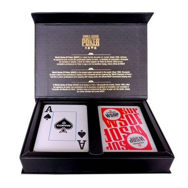 Set carti de joc poker, oficiale World Series of Poker - WSOP, de competitie, 100% plastic 0