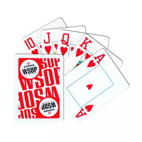 Set carti de joc poker, oficiale World Series of Poker - WSOP, de competitie, 100% plastic 1