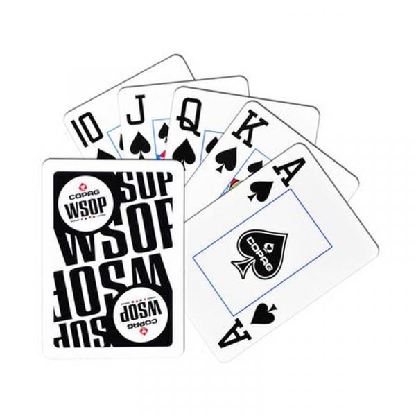 Set carti de joc poker, oficiale World Series of Poker - WSOP, de competitie, 100% plastic 2