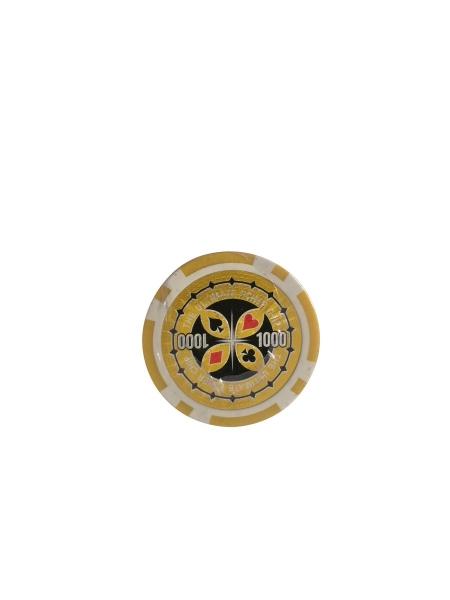Set 25 jetoane poker ABS 11,5 gr model Ultimate, inscr. 1000 0