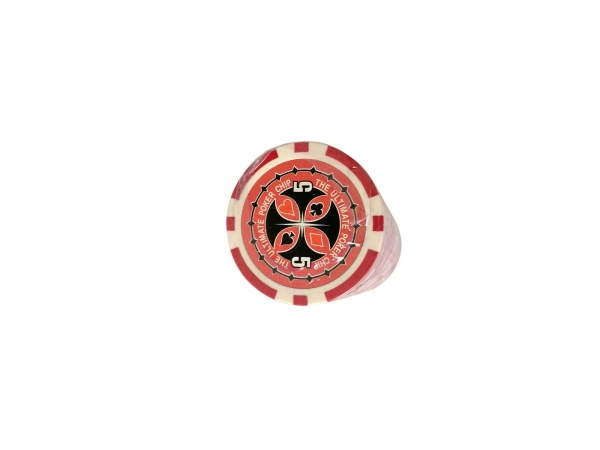 Set 25 jetoane poker ABS 11,5 gr model Ultimate, inscr. 5 imagine