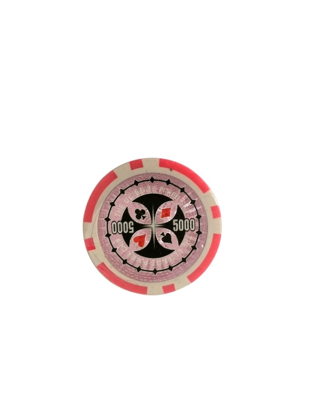 Set 25 jetoane poker ABS 11,5 gr model Ultimate, inscr. 5000 0
