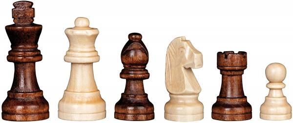 Set de sah si table din lemn de mesteacan, 28x28 cm, 30mm [1]