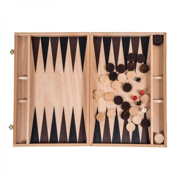 Set joc table backgammon 39 cm - Imperfect