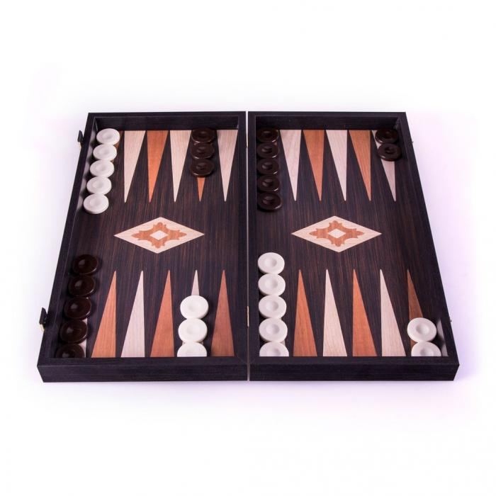 Set joc table/backgammon - aspect lemn wenge - 47,5cm 1