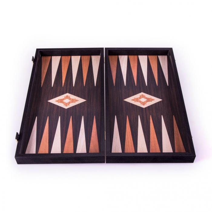 Set joc table/backgammon - aspect lemn wenge - 47,5cm 2