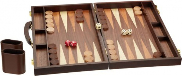 Set joc table backgammon - frasin - 38x48 cm - Desigilat