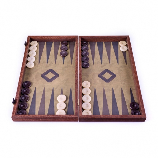 Set joc table/backgammon in stil militar-48x50 cm 0