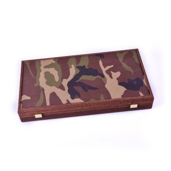 Set joc table/backgammon in stil militar-48x50 cm 1