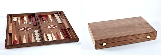 Set joc table/backgammon - Inlaid Nuc - 48 x 60 cm 1
