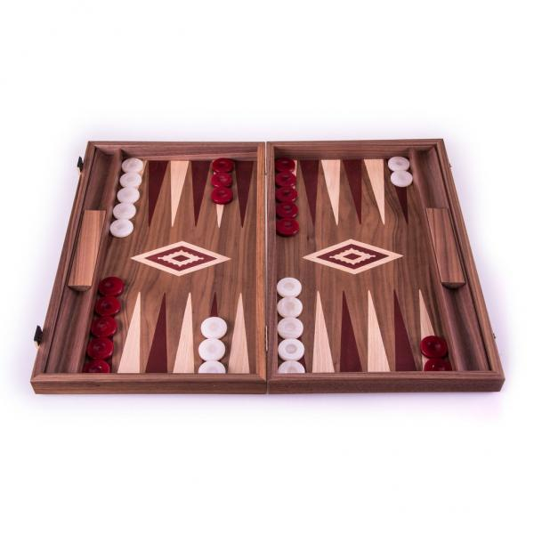 Set joc table backgammon - Inlaid Nuc - 48 x 60 cm - Imperfect