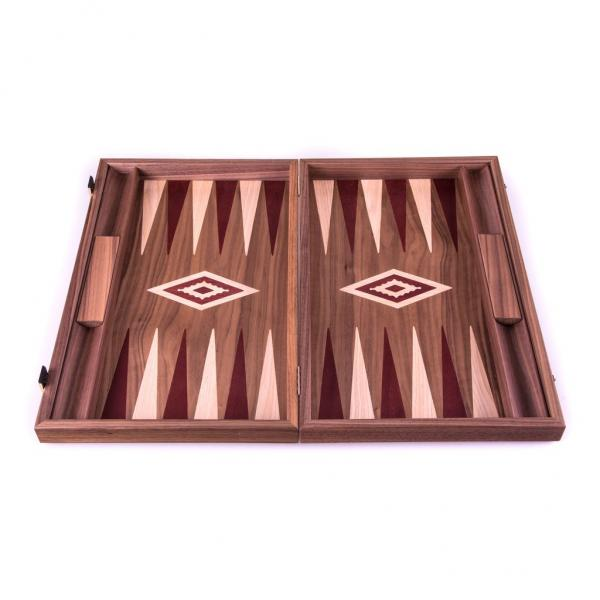 Set joc table/backgammon - Inlaid Nuc - 48 x 60 cm 2
