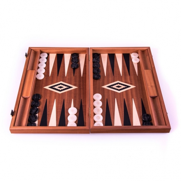 Set joc table backgammon lemn de trandafir nod inlaid 48 x 60 cm - Desigilat
