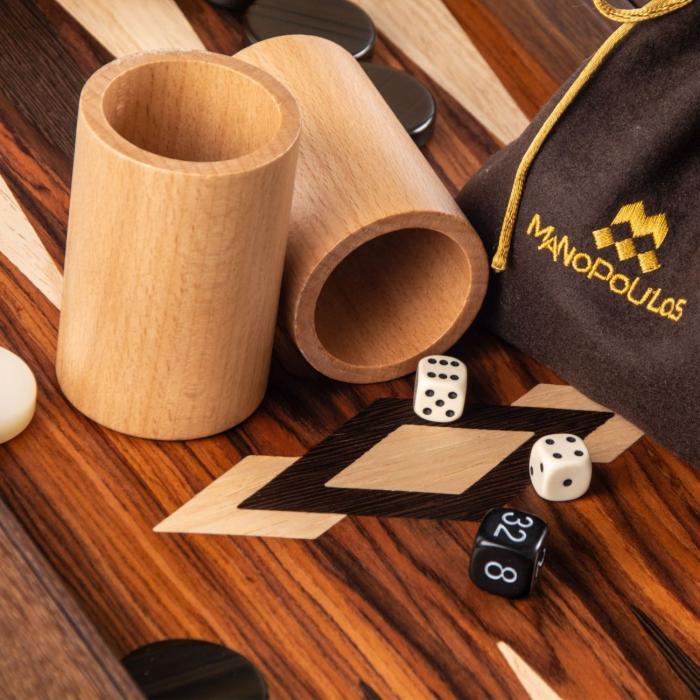 Set joc table backgammon palisandru Santos - 48 x 60 cm [4]