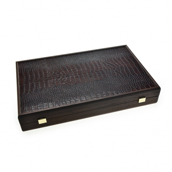 Set joc table backgammon piele model Crocodil - 48 x 60