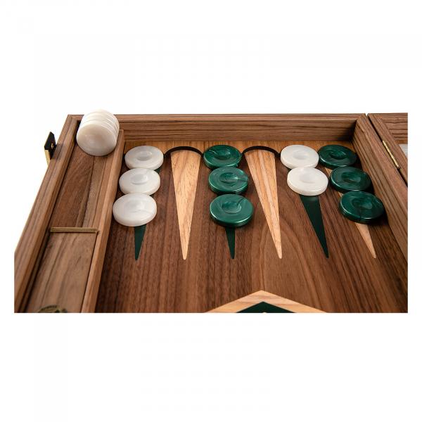 Set joc table / backgammon Walnut cu insertii verzi 5