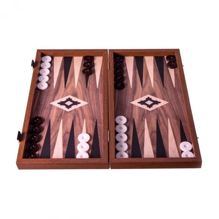 Set joc table/backgammon Walnut with Black &Oak points  38 x 38 cm [1]