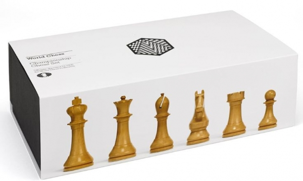 Piese sah lemn Staunton 6 World Chess Design imagine