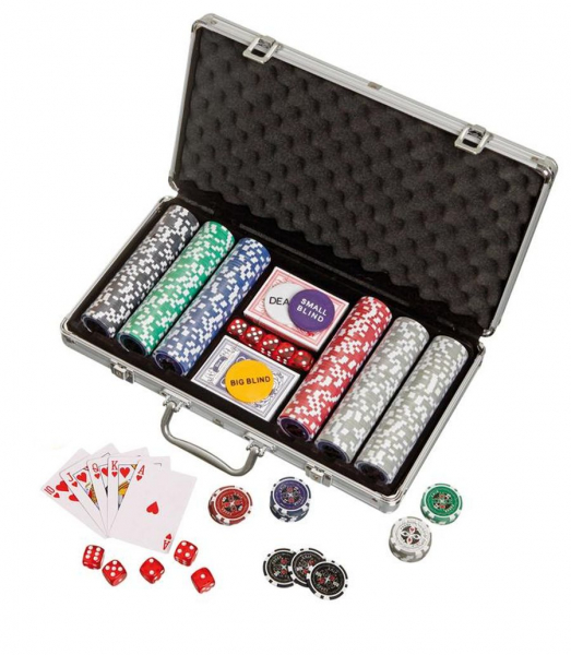 Set poker cu 300 jetoane, model Ultimate plus imagine