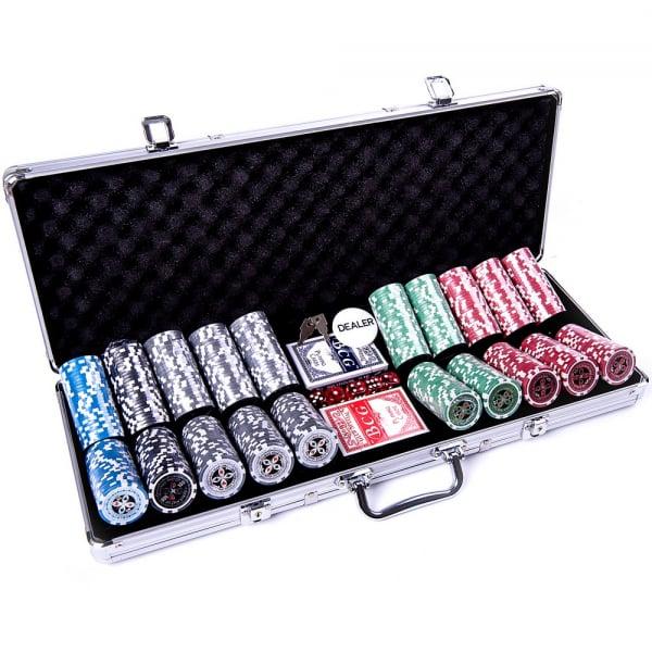 Set poker cu 500 chips-uri ABS 11,5g model ULTIMATE si servieta din aluminiu 1