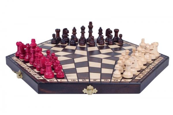 Set sah pentru 3 jucatori (mediu) imagine