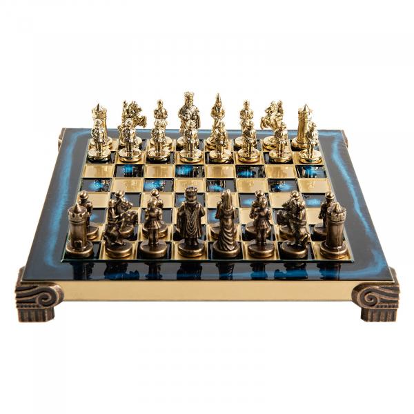 Set sah piese si tabla din metal - Imperiul Bizantin( albastru) [1]