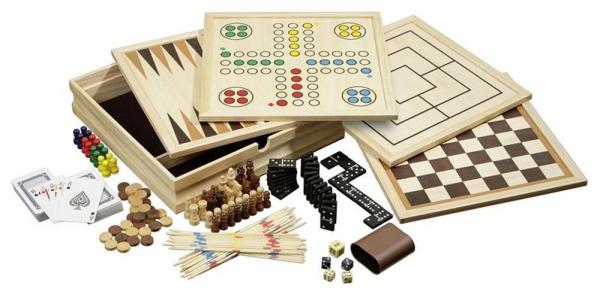 Set Sah, Table, Dame, Moara, Zaruri, Domino, Mikado, Carti de Joc de dimensiune mica