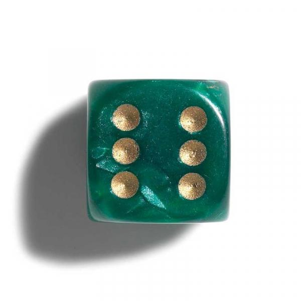 Zaruri perlate verde 16 mm - set 2 bucati imagine