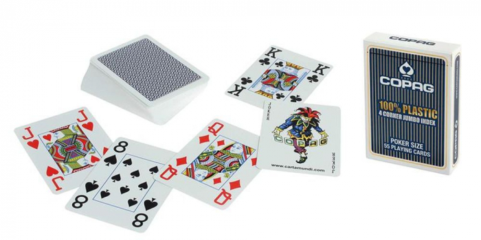 Carti de joc 100% Plastic Jumbo Index-COPAG [0]