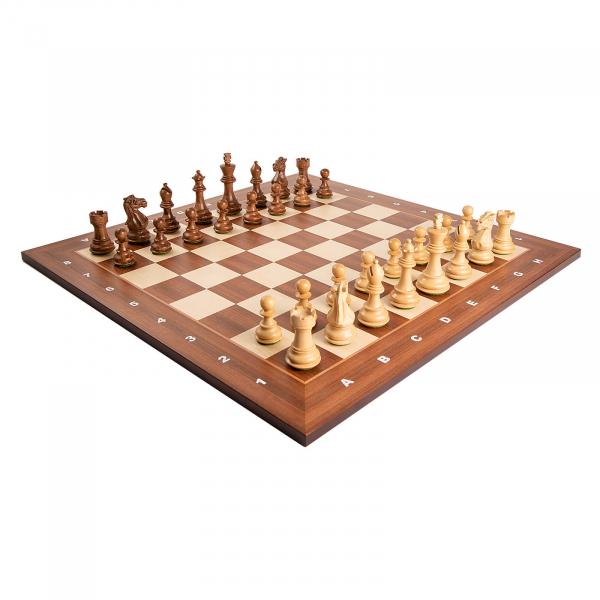 Piese sah lemn Staunton 6 Tournament cu tabla de sah arin, 55mm 1