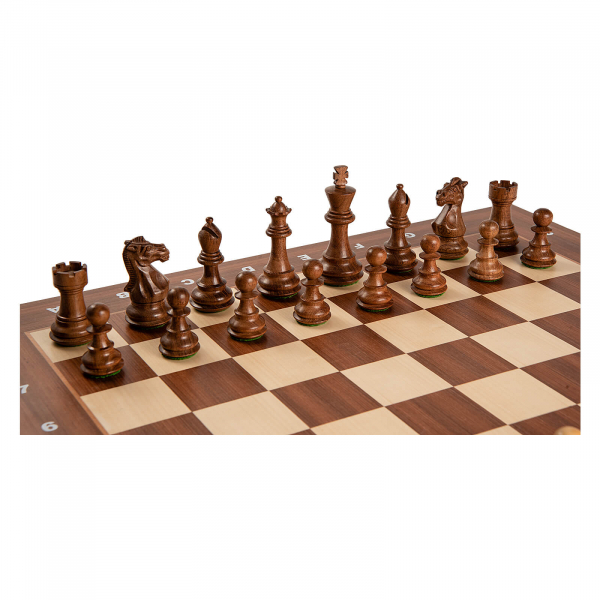 Piese sah lemn Staunton 6 Tournament cu tabla de sah arin, 55mm 0