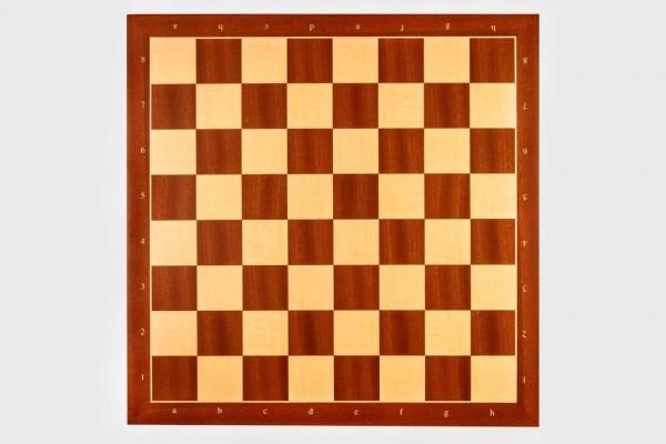 Tabla de sah no. 6, lemn mahon, 50 x 50 cm, patrat 55 mm - Rechapados