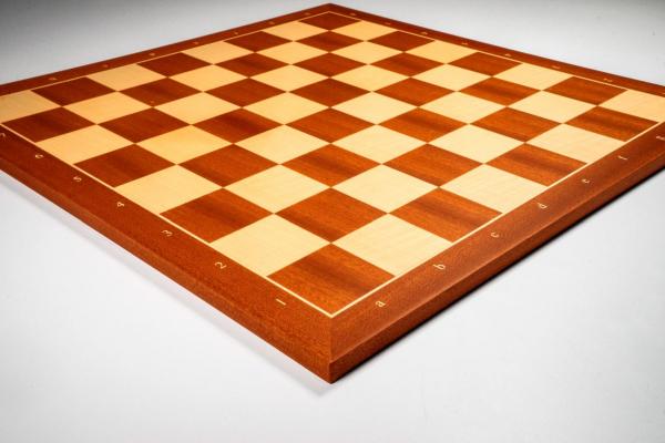 Tabla de sah no. 6, lemn mahon, 50 x 50 cm, patrat 55 mm - Rechapados 1