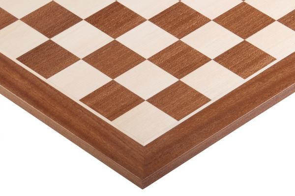 Tabla de sah - lemn no. 4 - mahon (patrat 45mm), fara notatie imagine