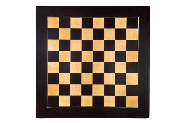 """Tabla de sah no.6, lemn wenge, 55x55 cm, patrat 55 mm, Barcelona """"Deluxe"""" 1"""