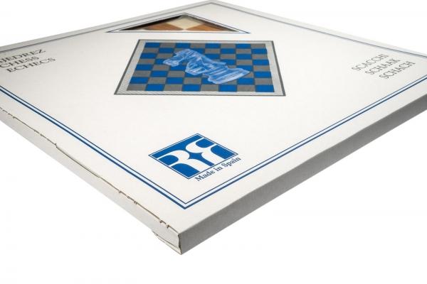 """Tabla de sah no.6, lemn wenge, 55x55 cm, patrat 55 mm, Barcelona """"Deluxe"""" 5"""