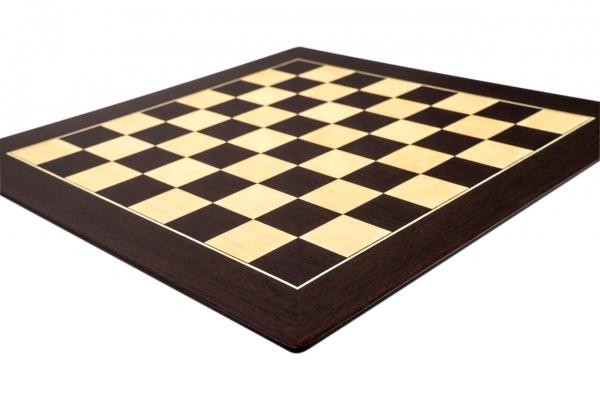 Tabla de sah no.6, lemn wenge, 55x55 cm, patrat 55 mm, Barcelona Deluxe