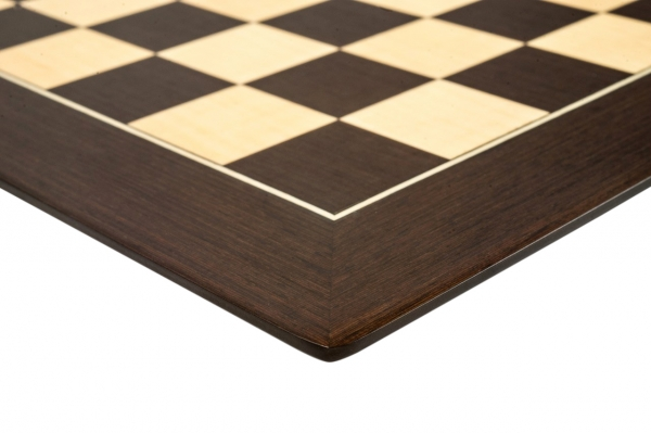 """Tabla de sah no.6, lemn wenge, 55x55 cm, patrat 55 mm, Barcelona """"Deluxe"""" 2"""