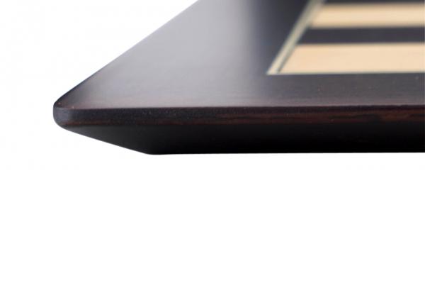 """Tabla de sah no.6, lemn wenge, 55x55 cm, patrat 55 mm, Barcelona """"Deluxe"""" 3"""