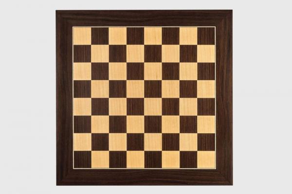 """Tabla de sah no.6, lemn de macassar, 55x55 cm, patrat 55 mm, """"Deluxe"""" 1"""