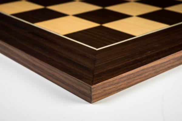 """Tabla de sah no.6, lemn de macassar, 55x55 cm, patrat 55 mm, """"Deluxe"""" 2"""