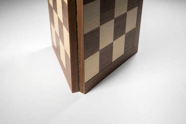 Tabla de sah Deluxe pliabila no 5, lemn de nuc, 45x45cm, patrat 50 mm 1