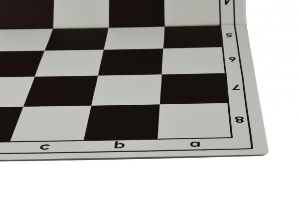 Tabla de sah pliabila PVC (alb-maro) 57 mm 1