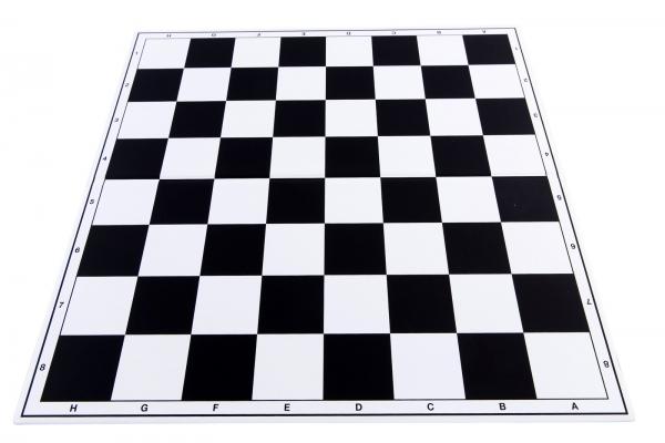 Tabla de sah pliabila PVC (alb-negru) 57 mm 0