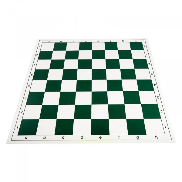 Tabla de sah pliabila PVC (alb-verde) 57 mm 0