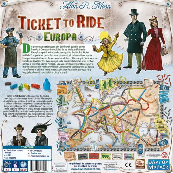 TICKET TO RIDE EUROPE 1