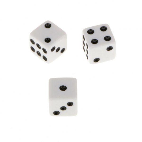 Zar 9 mm pentru jocul de Table, set 2 bucati 0