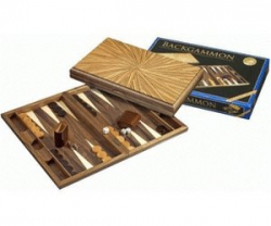 Set joc table / backgammon - lemn de arbore de cauciuc Mykonos - 49x60 cm1