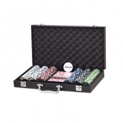 Set poker cu 300 chips-uri si servieta din piele ecologica0